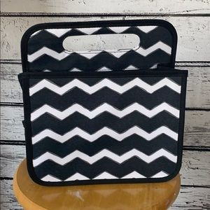 Thirty-One Gifts Double Duty Caddy Black Chevron